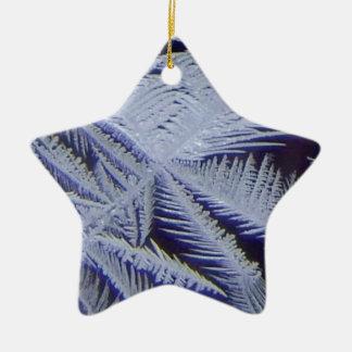 cristal de glace frais ornement étoile en céramique