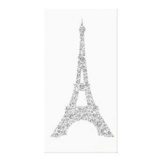 Cristal de gris argenté de Paris de Français de Toile