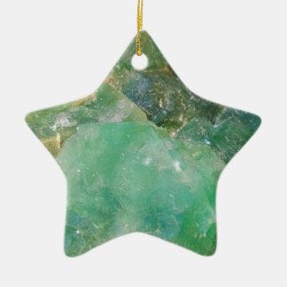 Cristal de quartz vert d'absinthe ornement étoile en céramique