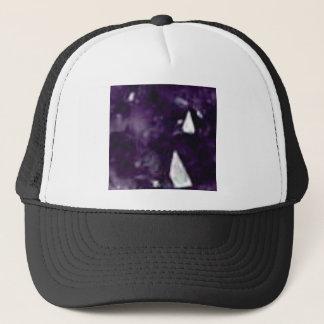 cristal en verre pourpre casquette