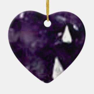 cristal en verre pourpre ornement cœur en céramique