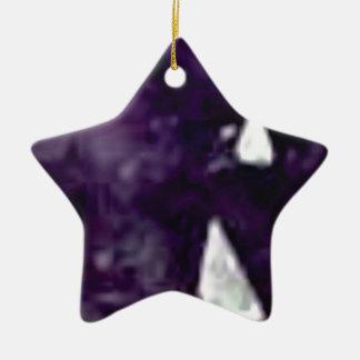 cristal en verre pourpre ornement étoile en céramique