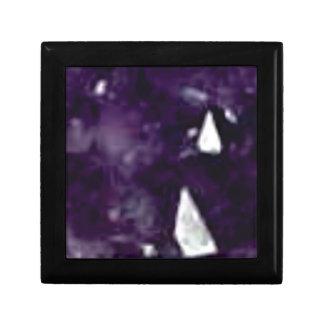 cristal en verre pourpre petite boîte à bijoux carrée