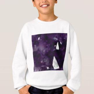 cristal en verre pourpre sweatshirt