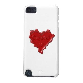 Cristal. Joint rouge de cire de coeur avec le Coque iPod Touch 5G