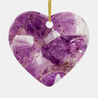 Cristaux de fée de prune de sucre ornement cœur en céramique