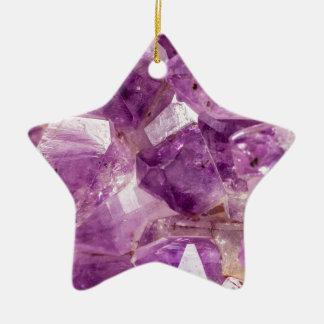 Cristaux de fée de prune de sucre ornement étoile en céramique