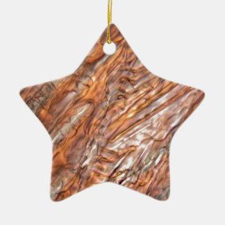 Cristaux de glace de jus de raisins rouge surgelé ornement étoile en céramique