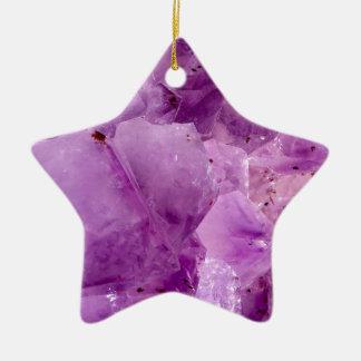 Cristaux violets de Kryptonite Ornement Étoile En Céramique