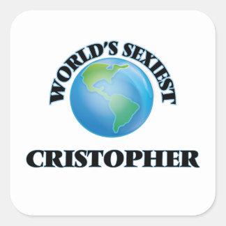 Cristopher le plus sexy du monde autocollants carrés