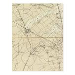 Crochet de Sandy à la carte de diagramme de côte Carte Postale