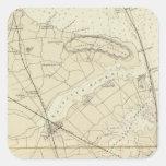 Crochet de Sandy à la carte de diagramme de côte Sticker Carré