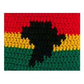 Crochet rouge de carte de noir de vert d'or de