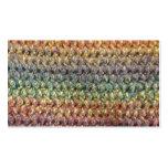 Crochet tricoté rayé multicolore modèles de cartes de visite