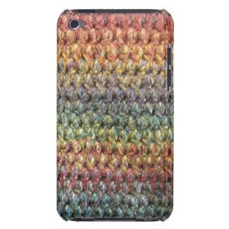 Crochet tricoté rayé multicolore coques iPod Case-Mate