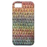 Crochet tricoté rayé multicolore coque iPhone 5