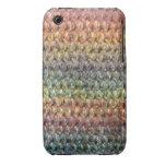 Crochet tricoté rayé multicolore coques iPhone 3
