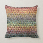 Crochet tricoté rayé multicolore oreillers