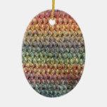 Crochet tricoté rayé multicolore décoration pour sapin de noël