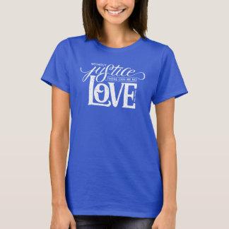 crochets de cloche sans T-shirt bleu adapté par