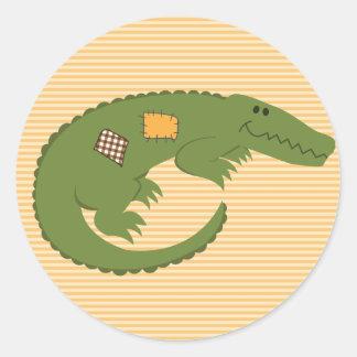 Crocodile Autocollant Rond