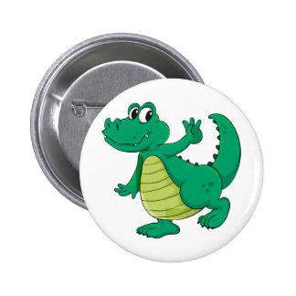 Crocodile de bande dessinée badge
