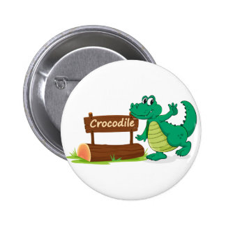 crocodile et plaque d'identification pin's