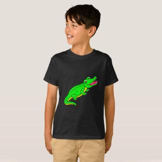 Crocodile mignon de bande dessinée t-shirt