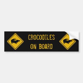 crocodiles de 10 prochains kilomètres autocollant de voiture