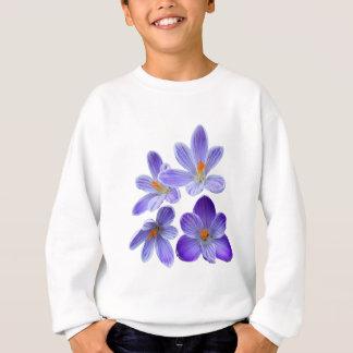 Crocus pourpres 02 sweatshirt