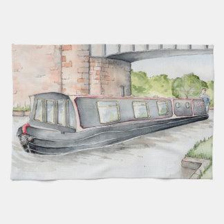 """""""Croisant serviette de thé de Narrowboat sur"""
