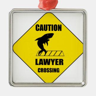 Croisement d'avocat avec le requin ornement carré argenté