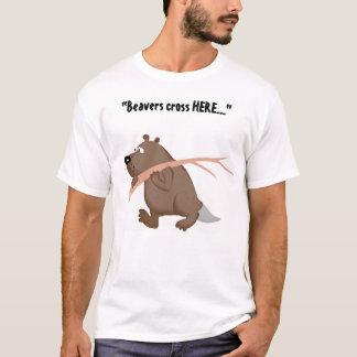 Croisement de castor t-shirt