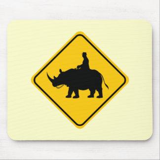 Croisement de cavalier de Rhinohback Tapis De Souris