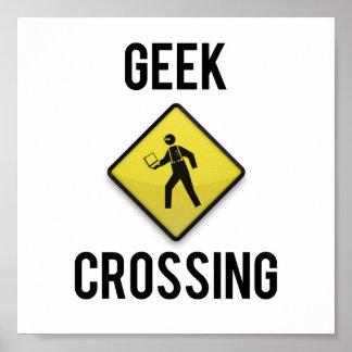 Croisement de geek affiches