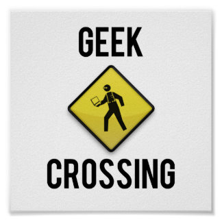 Croisement de geek posters