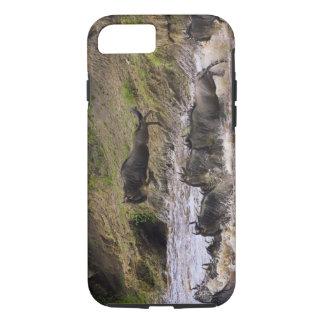 Croisement de la rivière de Mara par des zèbres et Coque iPhone 7