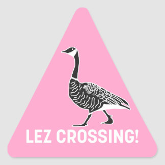 Croisement de Lez ! Sticker Triangulaire