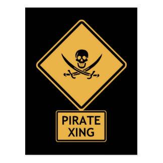 croisement de pirate carte postale