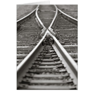 Croisement de voie ferrée carte de vœux