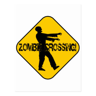 Croisement de zombi carte postale