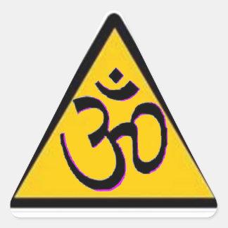 Croisement d'ohm sticker triangulaire
