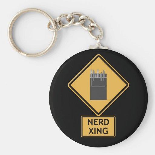 croisement nerd porte-clef