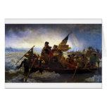 croisement, Noël, George Washington, Amérique Carte De Vœux