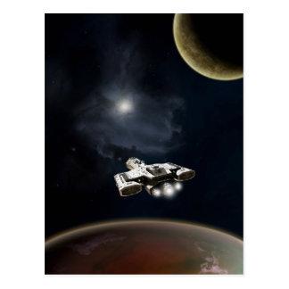 Croiseur cuirassé profond de fiction de la science carte postale