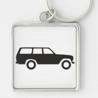 Croiseur de terre de Toyota porte - clé d'icône de Porte-clés