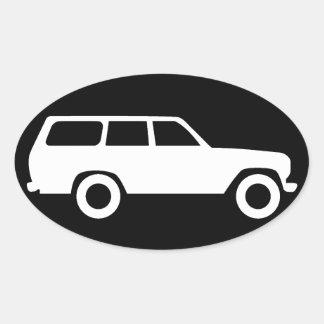 Croiseur ovale de terre de Toyota autocollant B