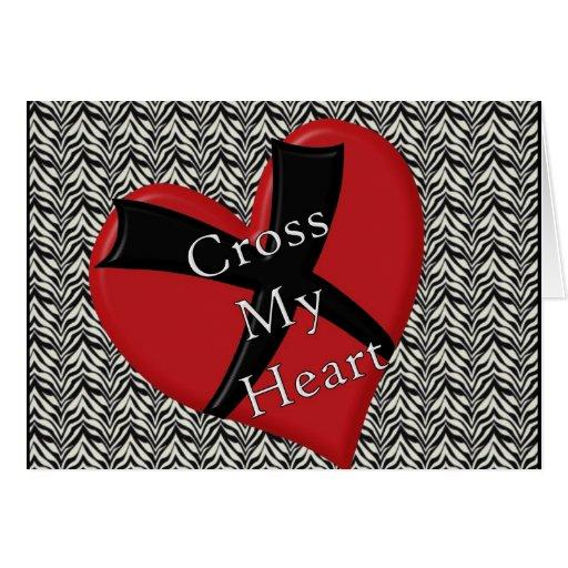 Croisez mon coeur carte de vœux