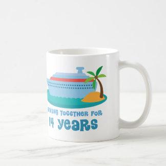 Croisière ensemble pendant 14 années de cadeau mug