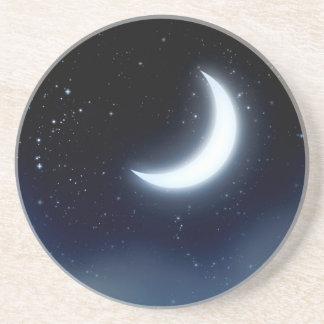 Croissant de lune au-dessus de Sky2 étoilé Dessous De Verres